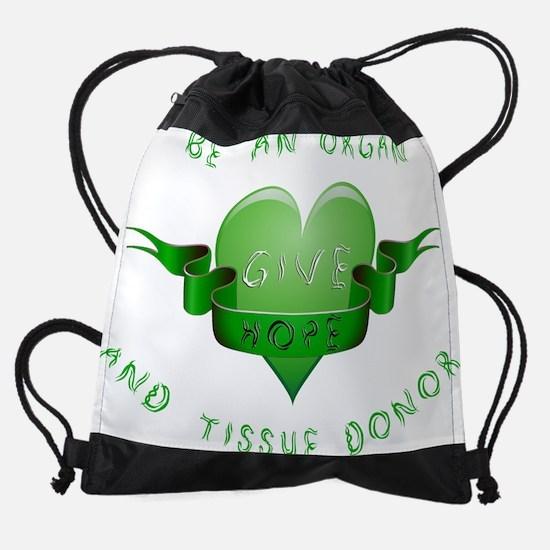 GREEN HEART.png Drawstring Bag
