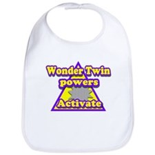 Super Hero Twins Bib