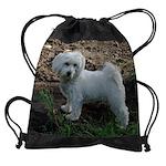 pup on the hunt calendar copy.png Drawstring Bag