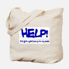 Writing Plot Bunny's on my Back Tote Bag