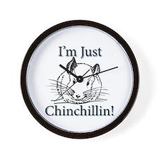 Cute Chinchilla Wall Clock