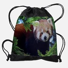 Red Panda Drawstring Bag