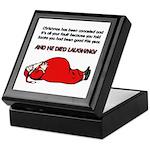 Christmas Is Cancelled Joke Keepsake Box