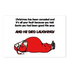Christmas Is Cancelled Joke Postcards (Package of