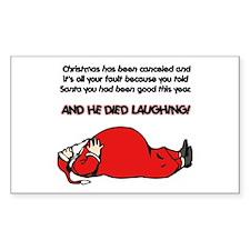 Christmas Is Cancelled Joke Rectangle Sticker