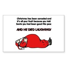 Christmas Is Cancelled Joke Rectangle Decal