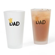 Dad with Crown Drinking Glass