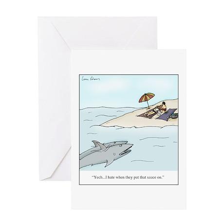 Sun-Tan Sauce Greeting Cards
