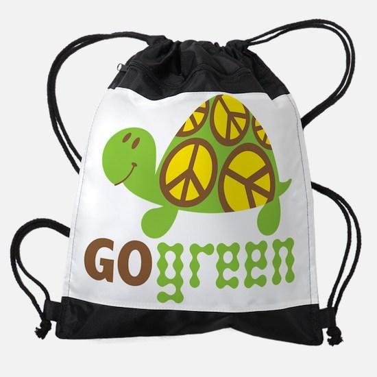 GoGreenTurtle.png Drawstring Bag