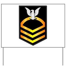 Navy - CPO - Rank - Gold Yard Sign