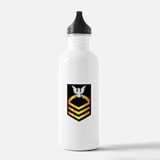 Navy - CPO - Rank - Gold Water Bottle