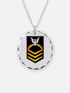 Navy - CPO - Rank - Gold Necklace