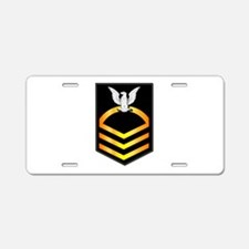 Navy - CPO - Rank - Gold Aluminum License Plate