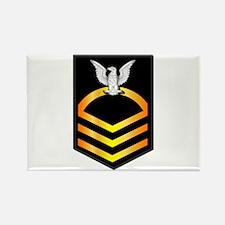 Navy - CPO - Rank - Gold Rectangle Magnet