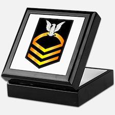 Navy - CPO - Rank - Gold Keepsake Box