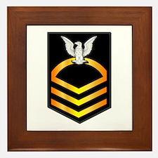 Navy - CPO - Rank - Gold Framed Tile