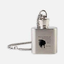 Chief Seattle Quote Flask Necklace