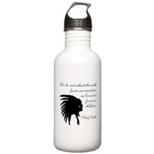 Chief Seattle Quote Water Bottle