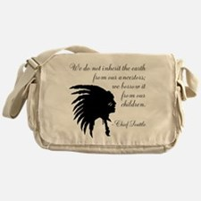 Chief Seattle Quote Messenger Bag