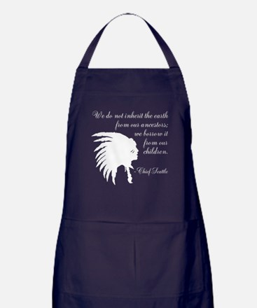Chief Seattle Quote Apron (dark)