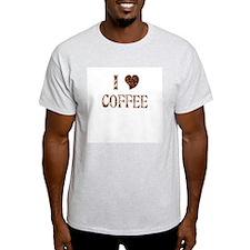 I (heart) COFFEE Ash Grey T-Shirt