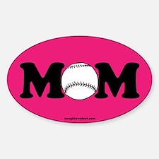 Baseball Mom Sticker (Oval)