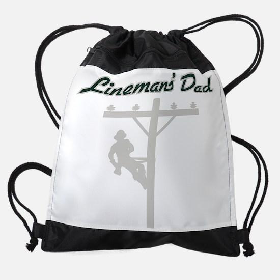 Linemans dad shadow.png Drawstring Bag