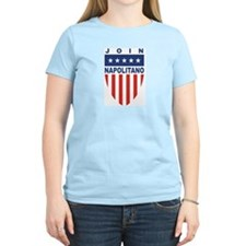 Join Janet Napolitano Women's Pink T-Shirt