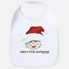 Asian Baby's First Christmas Bib