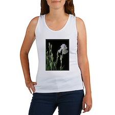White Iris In The Black of Night Women's Tank Top