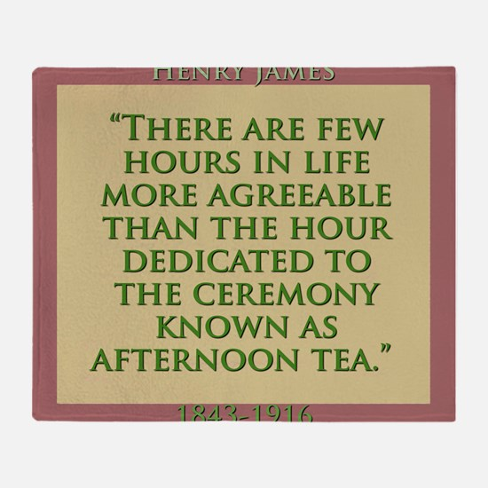 There Are Few Hours In Life - H James Throw Blanke