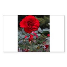 Red Flower Decal