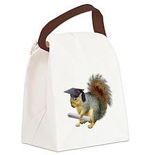 Squirrel Graduation Canvas Lunch Bag