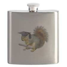 Squirrel Graduation Flask