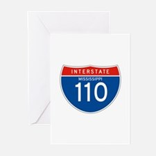 Interstate 110 - MS Greeting Cards (Pk of 10)