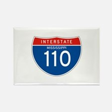 Interstate 110 - MS Rectangle Magnet