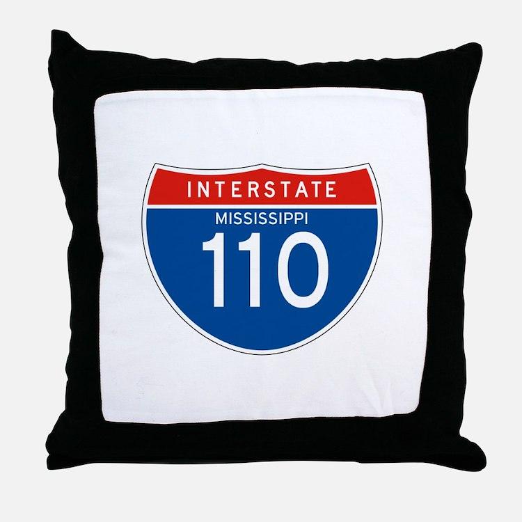 Interstate 110 - MS Throw Pillow