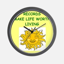 record collecting Wall Clock
