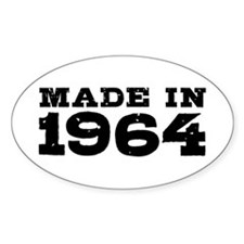 Made In 1964 Decal