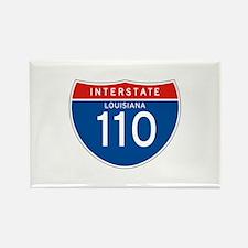 Interstate 110 - LA Rectangle Magnet