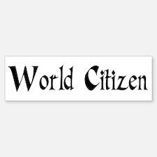 World Citizen Bumper Bumper Bumper Sticker