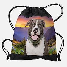 Pit Bull Meadow (blanket) Drawstring Bag