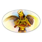 Angels I Have Heard Oval Sticker