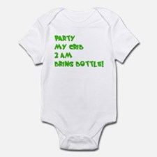 3-partymycrib2amgreen copy Body Suit