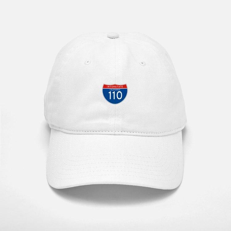 Interstate 110 - CA Baseball Baseball Cap