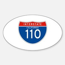 Interstate 110 - CA Oval Decal