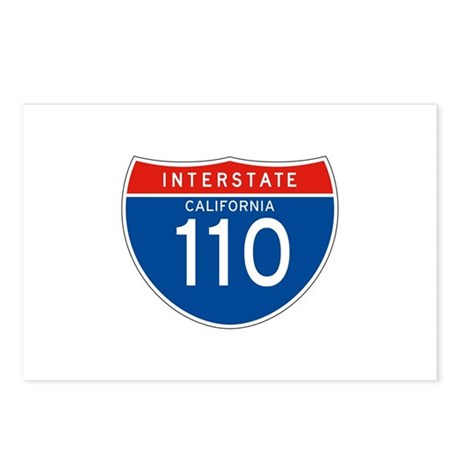 Interstate 110 - CA Postcards (Package of 8)
