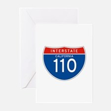 Interstate 110 - CA Greeting Cards (Pk of 10)
