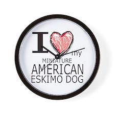 Red Heart Mini Amer Eskimo Wall Clock