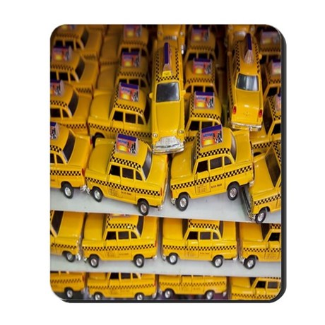 pile of toy new york cabs taxis for sale Mousepad